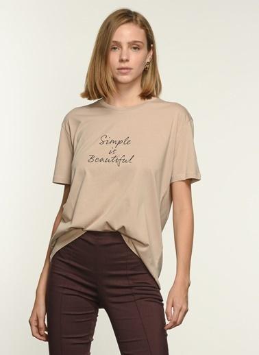 NGSTYLE Ngkss21Ts0019 Baskılı Tişört Taş